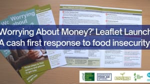 Worrying About Money leaflet published