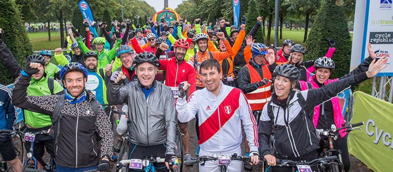 Pedal for Scotland De'ils On Wheels fundraiser